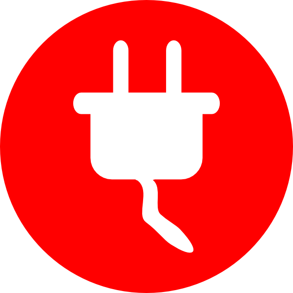 Electric Power Plug Icon clip Plug Outlet Graphic