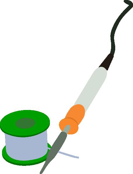 free vector Electric Soldering Iron Solder Reel clip art