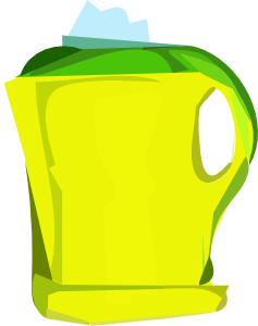 free vector Electric Yellow Teapot clip art