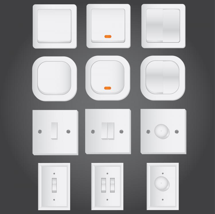 free vector Electrical switch vector