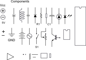Electronic Components Clip Art Free Vector 4vector