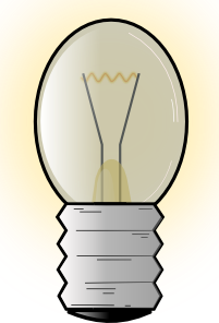 free vector Electronic Light Bulb clip art