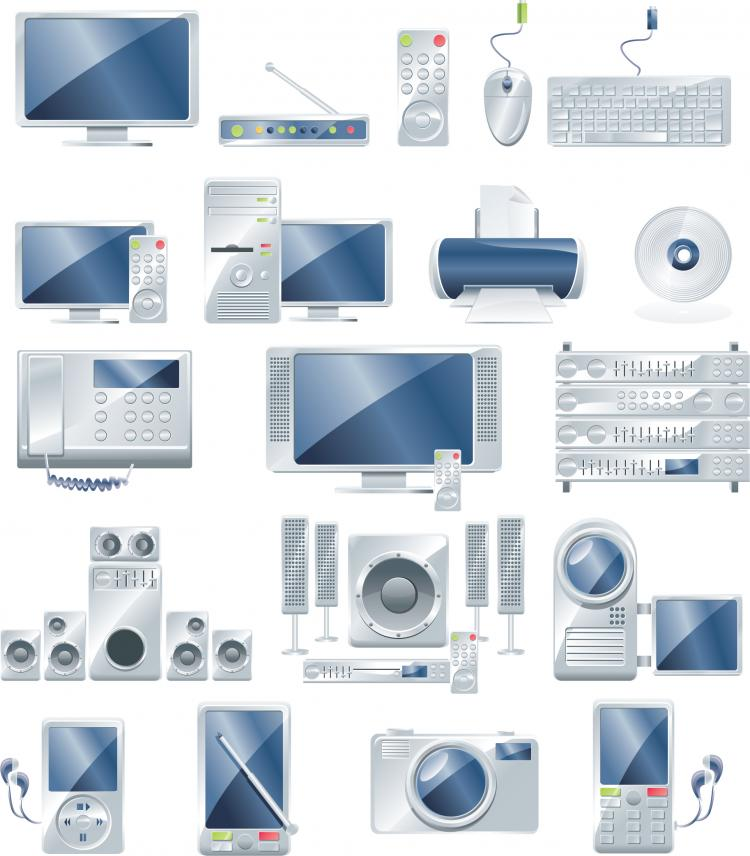free vector Electronic office products vector
