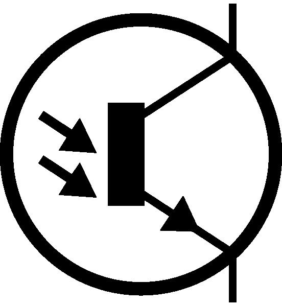 electronic phototransistor npn circuit symbol clip art