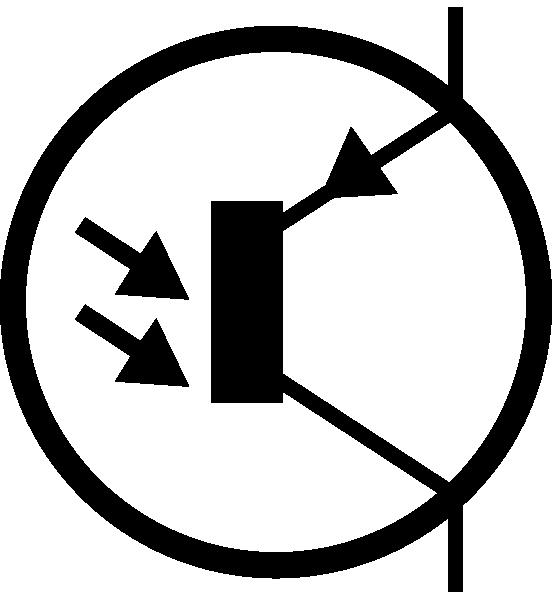 electronic phototransistor pnp circuit symbol clip art free vector    4vector