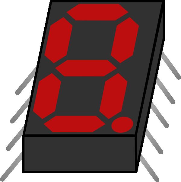 free vector Electronic Seven Segment Display clip art