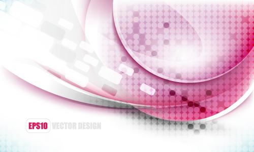free vector Elegant background flow line 01 vector