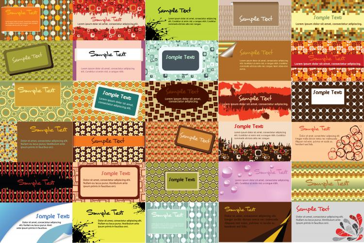 elegant business card background pattern vector free vector 4vector