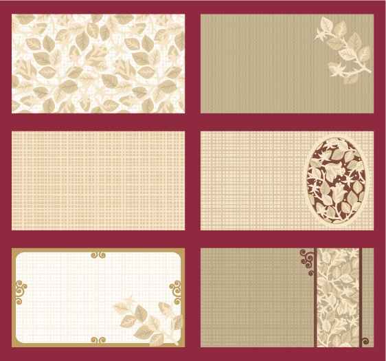elegant card template vector roses theme free vector