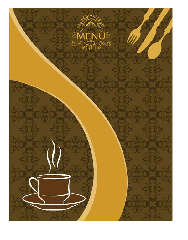 free vector Elegant europeanstyle vector menu