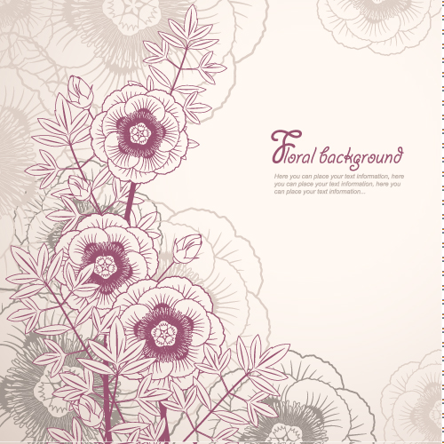 elegant floral background 02 vector free vector 4vector