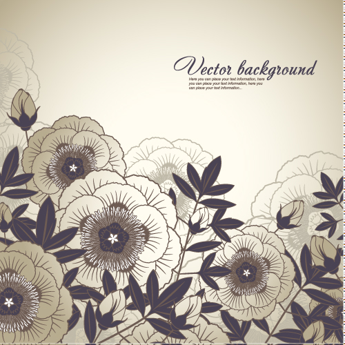 free vector Elegant floral background 03 vector