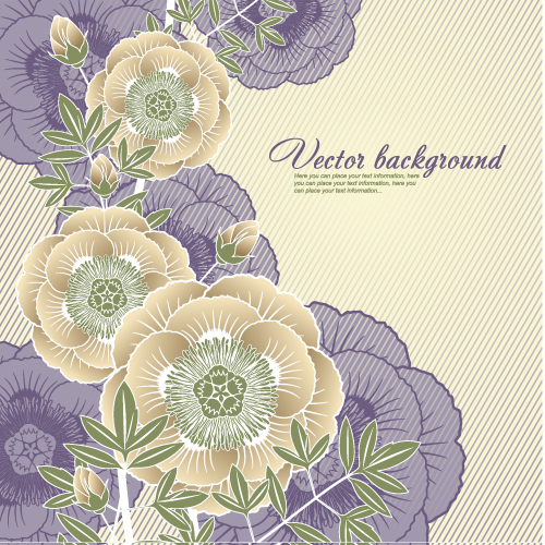 free vector Elegant floral background 05 vector