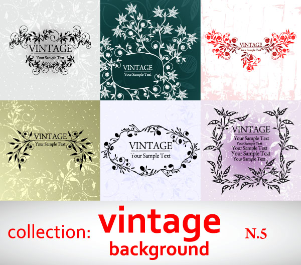 free vector Elegant patterns vector