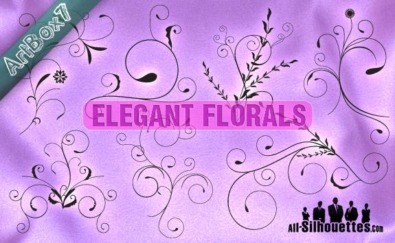 free vector Elegant Vector Florals