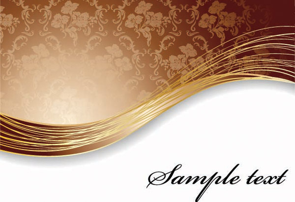 free vector Elegant wavevector background