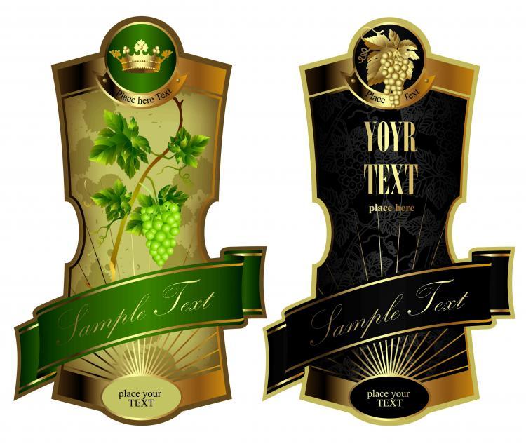 Elegant wine label (5903) Free EPS Download / 4 Vector