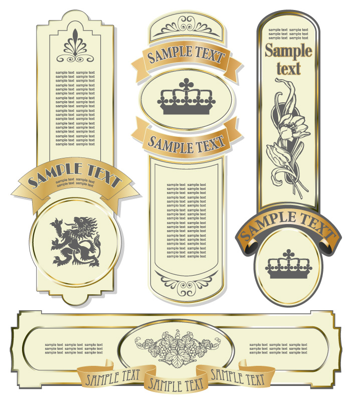 free vector Elegant wine label vector