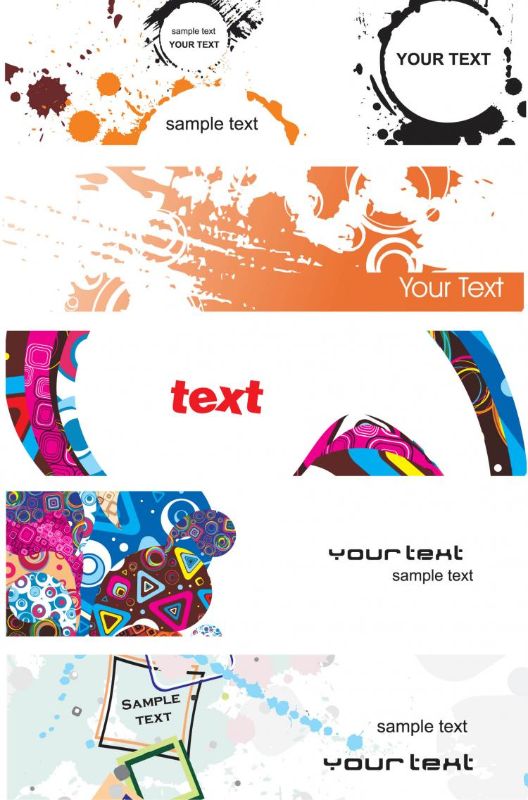 free vector Elements of the trend banner vector
