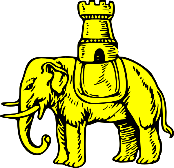 free vector Elephant And Castle clip art