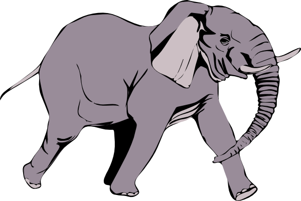 Continuous Different Wide Line Drawing Elephant Walking Symbol Logo Of The Elephant Vector