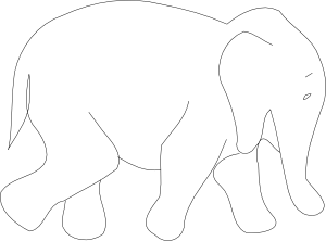 free vector Elephant Outline clip art