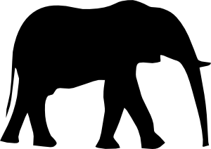 free vector Elephant Silhouet clip art