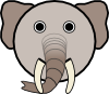 free vector Elephant With Rounded Face clip art