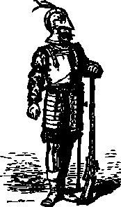 free vector Elizabethan Soldier clip art