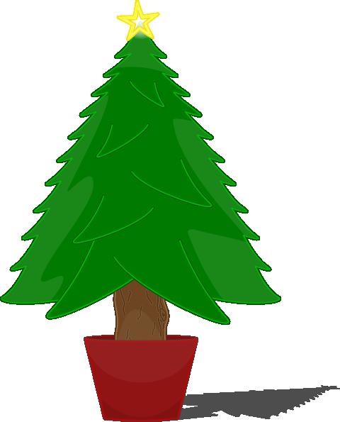 elkbuntu glossy christmas tree clip art free vector 4vector rh 4vector com clipart of christmas tree lights clipart of christmas tree ornaments