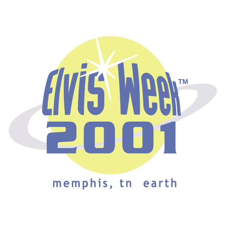 free vector Elvis week 2001