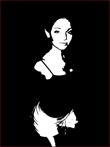 free vector Elvish Girl Silhouette clip art