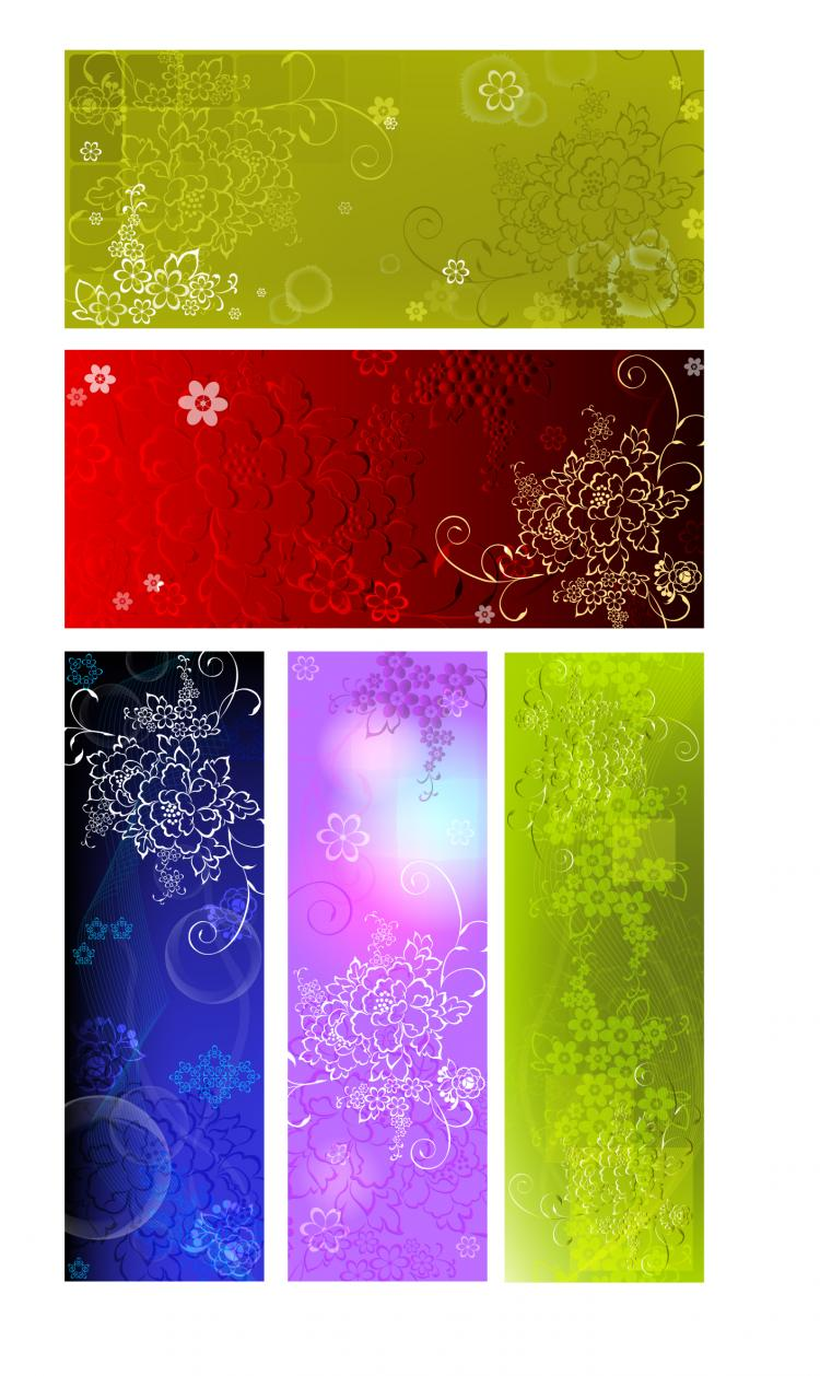 free vector Embossed flower background background