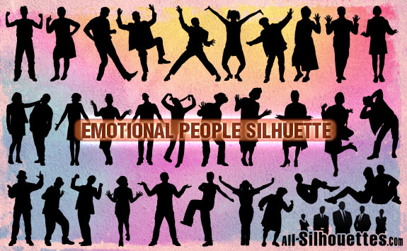 free vector Emotional People Silhuette