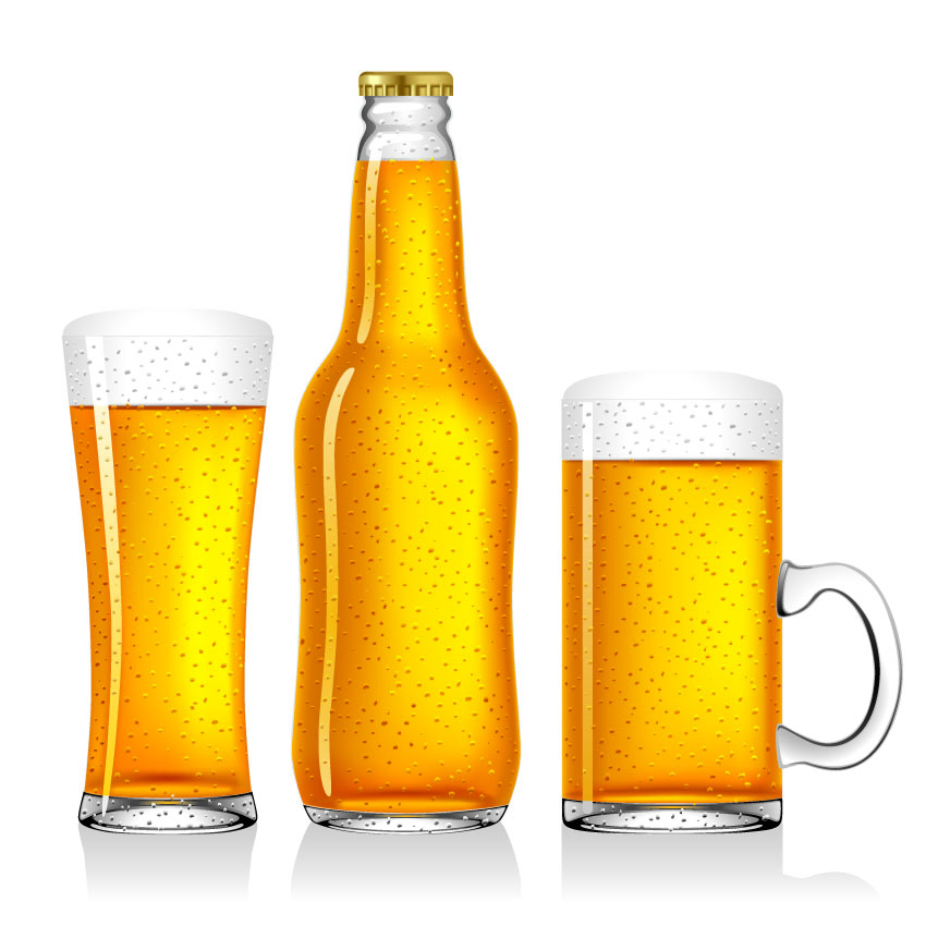 free vector Empty beer vector