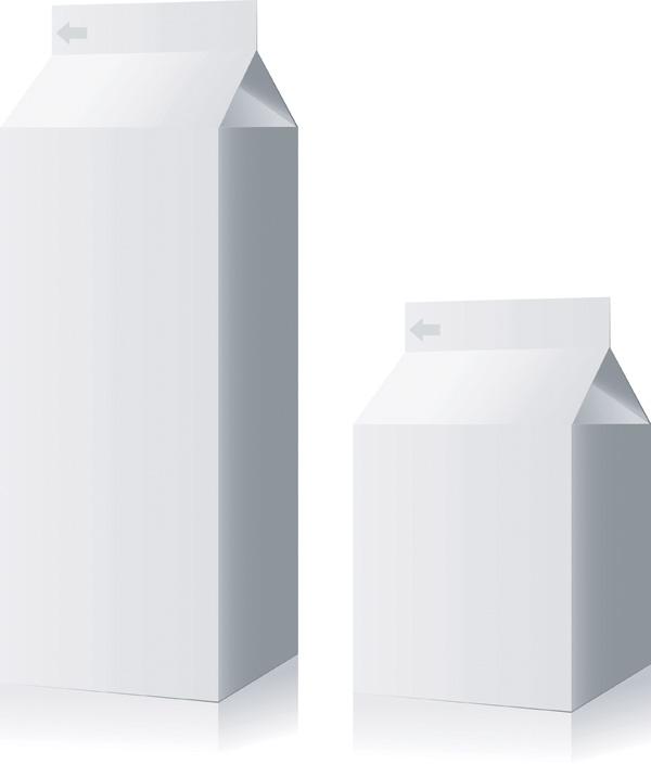 free vector Empty beverage packaging vector