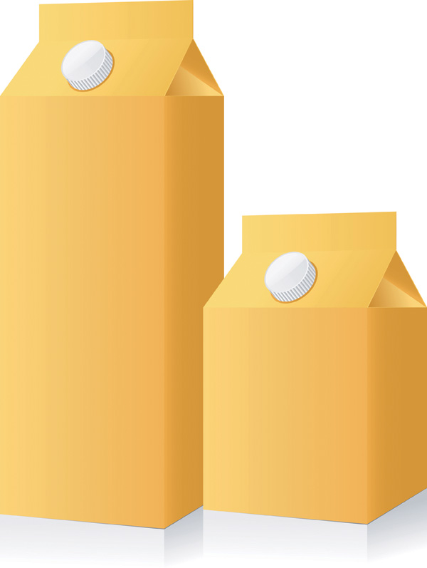 free vector Empty beverage packaging vector