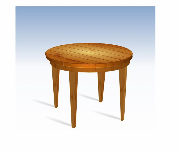 free vector Empty round wood table