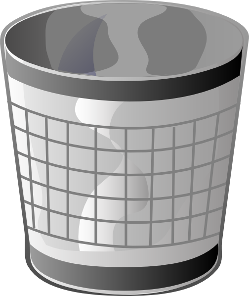 free vector Empty Trash Bin clip art