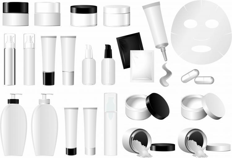 Empty vector cosmetic packaging Free Vector / 4Vector