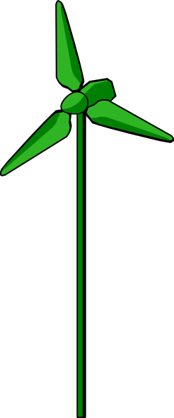 free vector Energy Positive Wind Turbine Green clip art