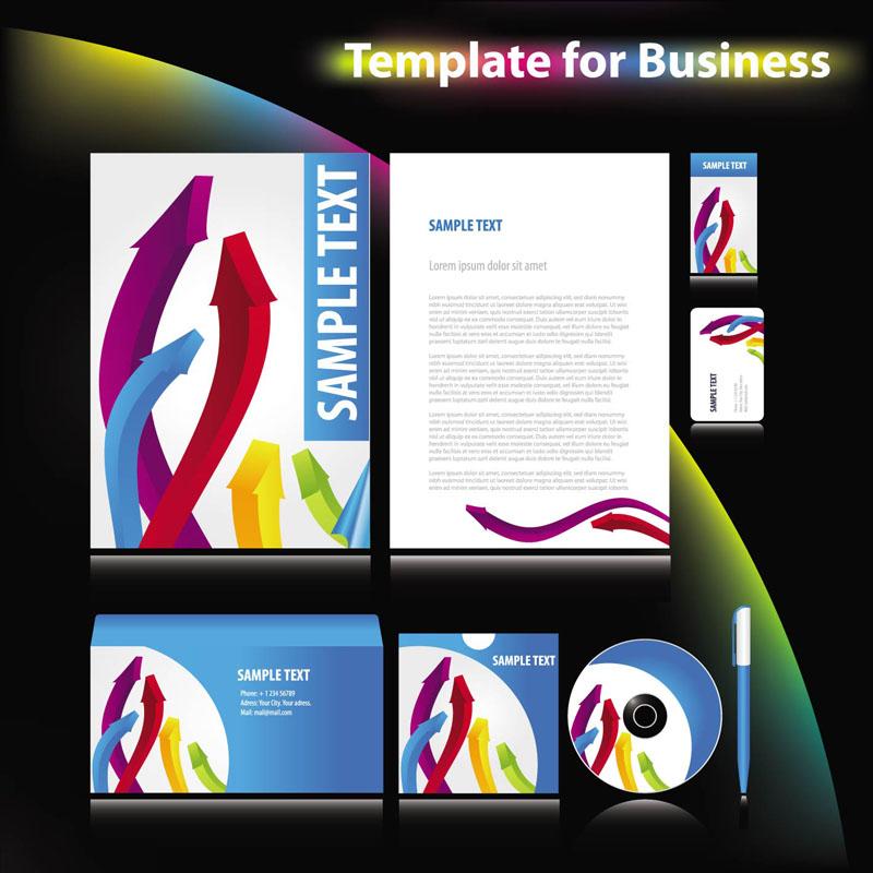 free vector Enterprise vi system template 03 vector