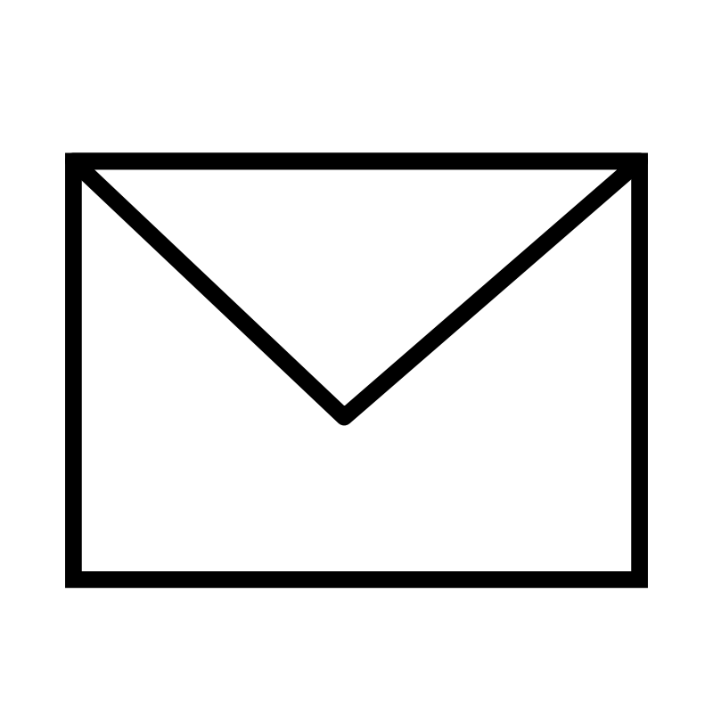 free vector Envelope Closed B&W