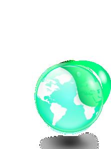 free vector Environmental Eco Globe Leaf Icon clip art