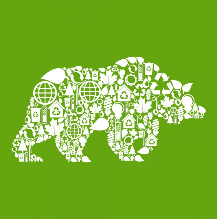 free vector Environmental elements of collage images of animals vector 4
