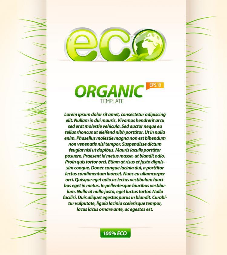free vector Environmental layout design 01 vector