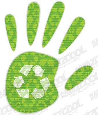 free vector Environmental protection material