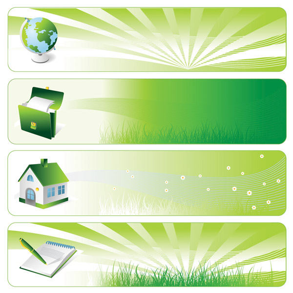 environmental theme banner vector background free vector