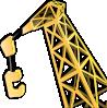 free vector Equipment Crane clip art