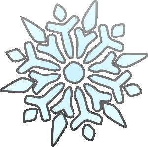 free vector Erik Single Snowflake clip art